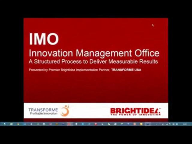 Building an Innovation Management Office with Brightidea – Webinar, January 23