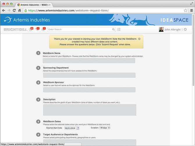 WebStorm-Request-Form
