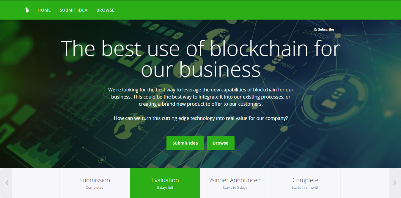 Brightidea Apply Homepage
