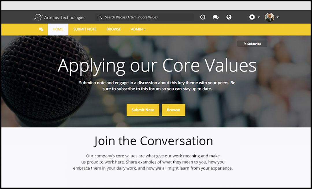 Brightidea Discuss Homepage