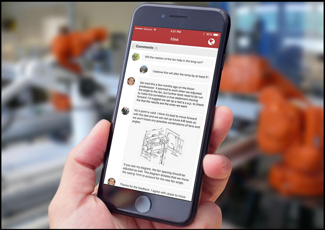 Brightidea Solve Mobile Commenting
