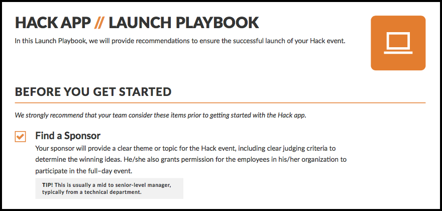 Innovation with Hackathons - Playbook