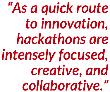 Innovation with Hackathons - Quote