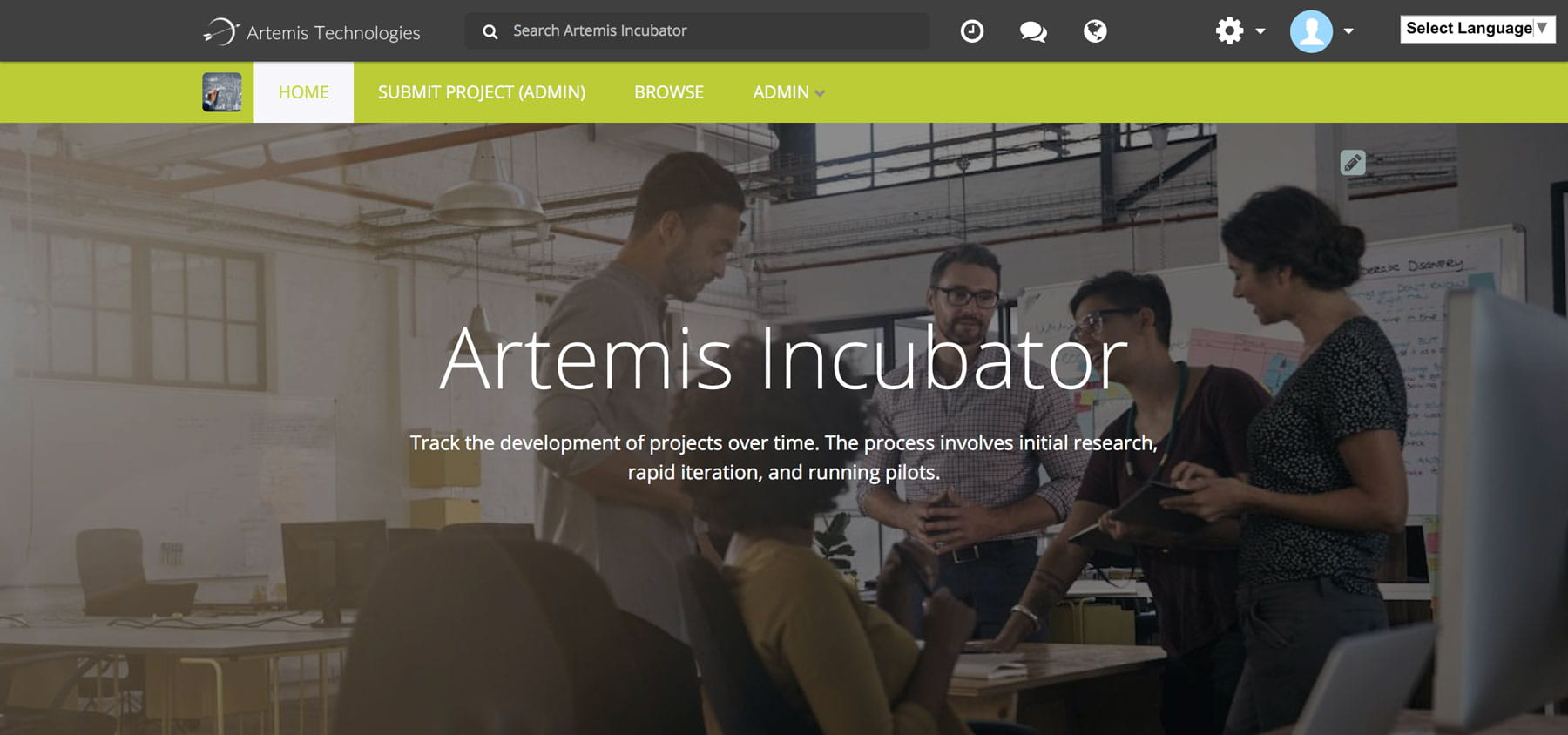 Incubate Blog Homescreen