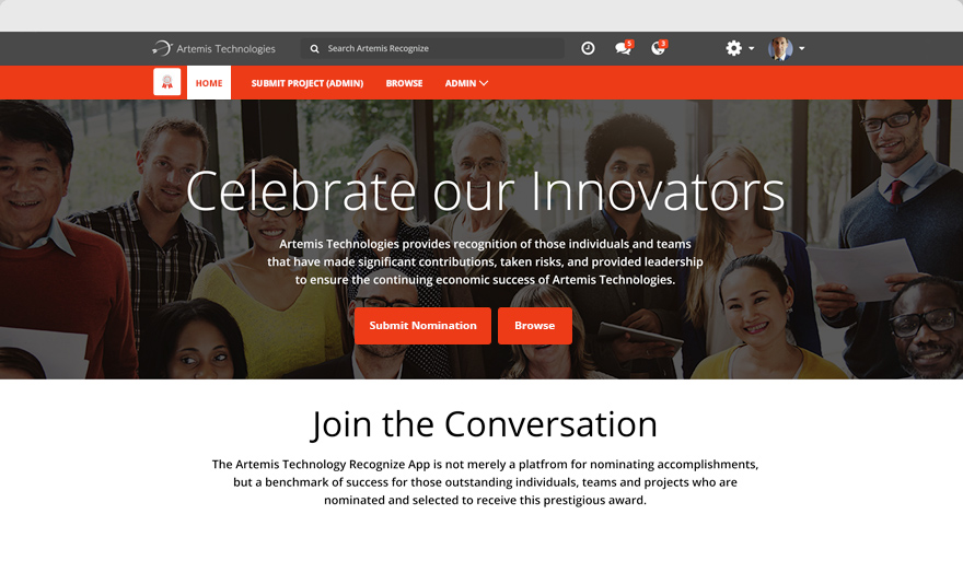 Recognize - Awards Microsite