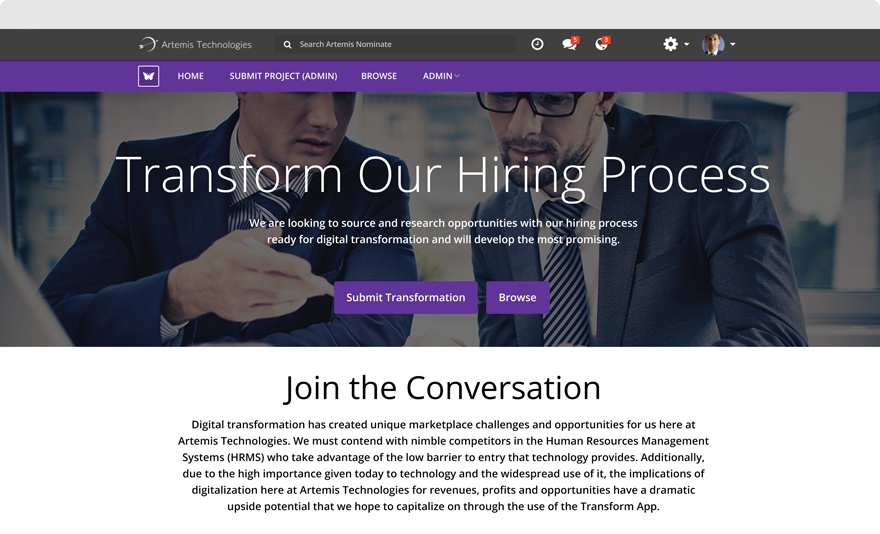 Submission Website - Transform