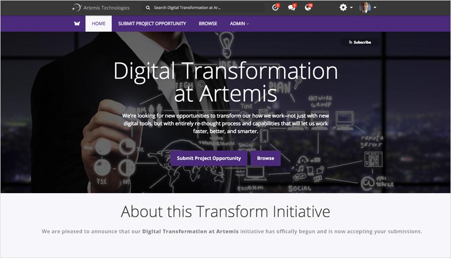 Transformation Microsite