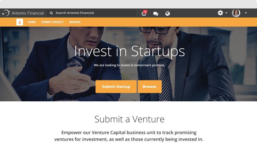 Venture - Microsite