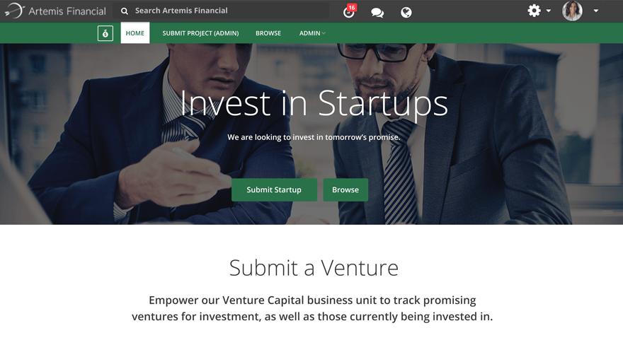Venture Startup Microsite