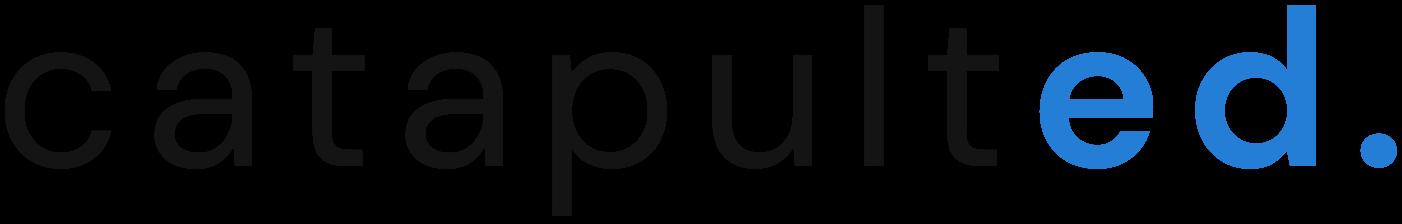 Catapulted Logo Black