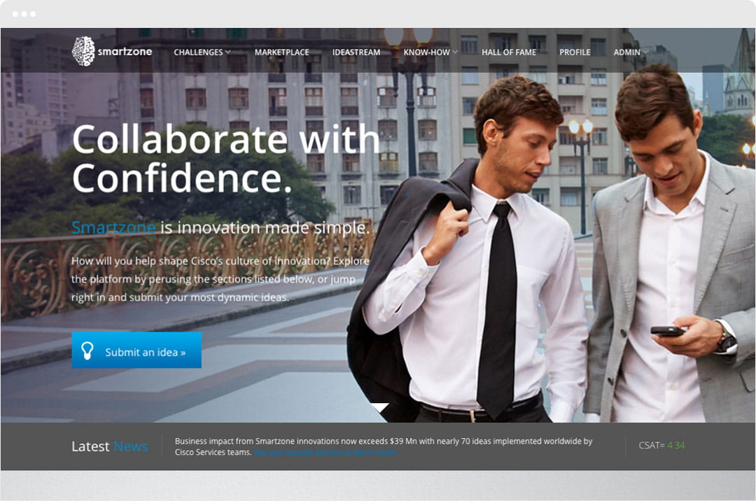 Brightidea and Cisco Collaborate with Confidence