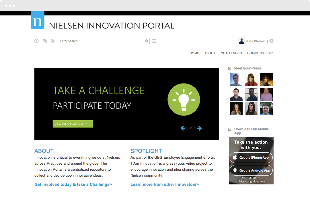 Nielsen Challenge Homepage