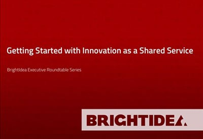 Starting with Innovation as a Shared Service (ISS)